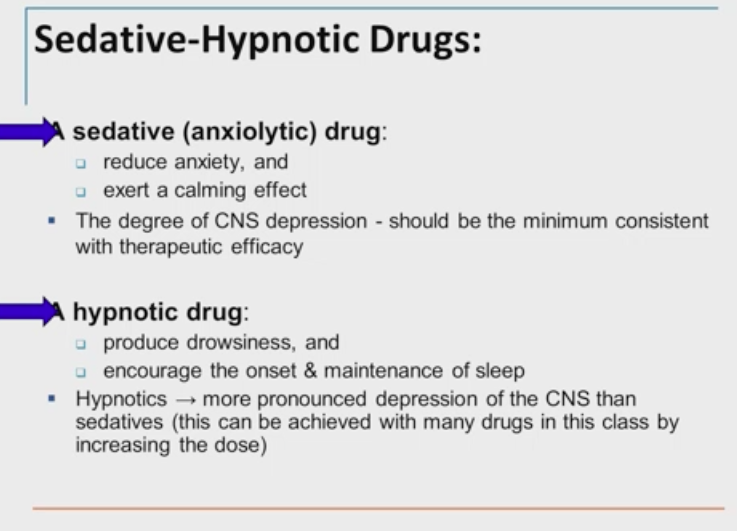 Sedating anxiolytic medications for anxiety