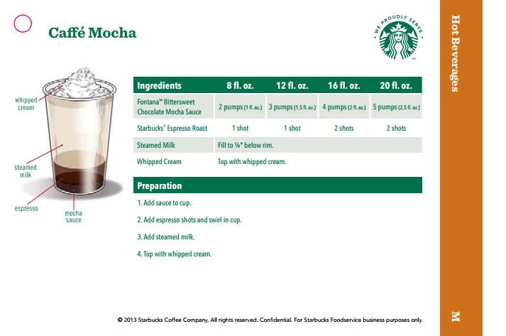 Starbucks Blended Cold Brew Recipe Card | Applycard.co
