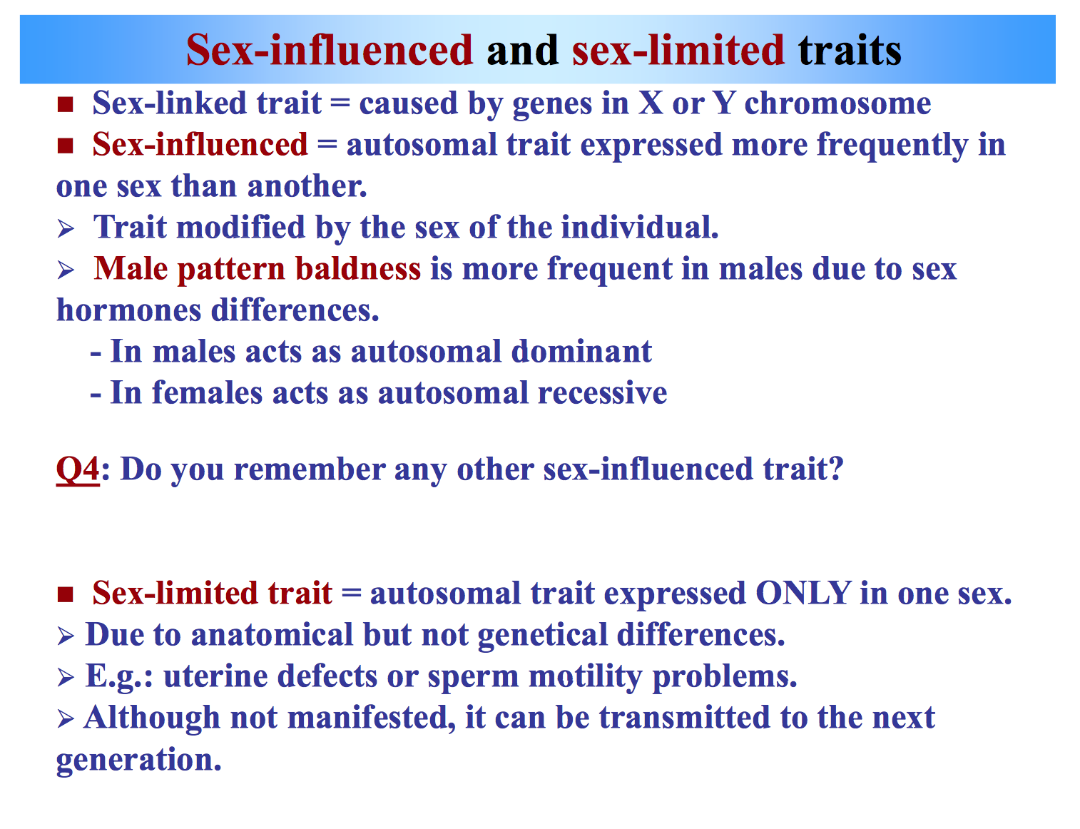Is It Possible To Have An Autosomal Sex Linked Gene