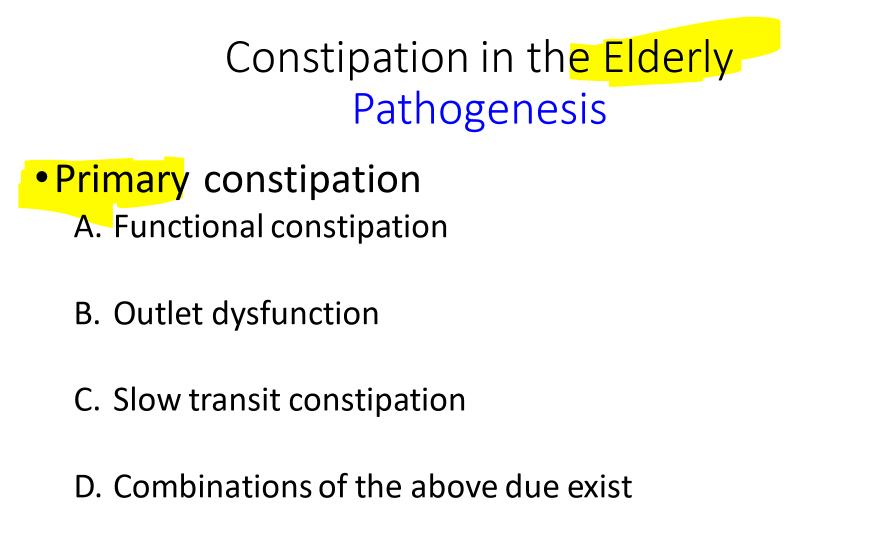 CBCL: Constipation (GIR 5) Flashcards | Memorang
