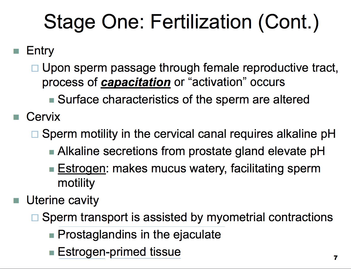 Prostaglandins in sperm