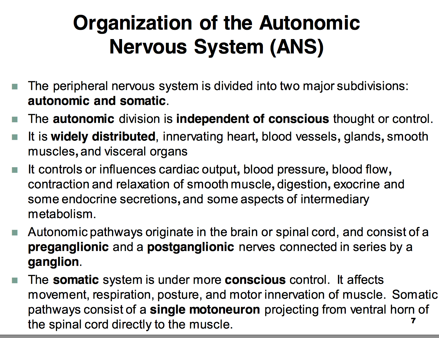Ccf l11 autonomic nervous system physiology unit 1 flashcards it controls or influences cardiac output blood pressure blood flow contraction and relaxation nvjuhfo Gallery